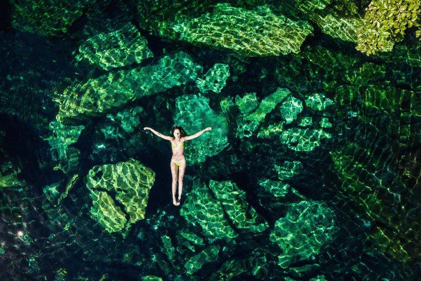 Cenote Cristalino And Escondido Cenote. Best Cenotes In Tulum.