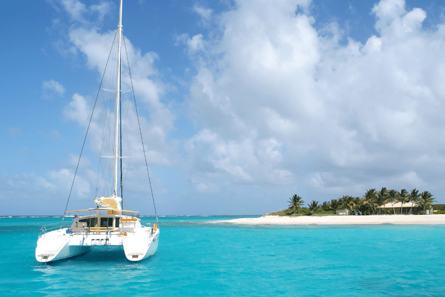 Catamaran to Passion Island, Cozumel. Cozumel attractions