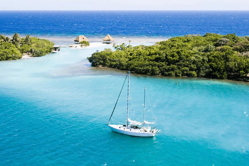 Sailing in Honduras