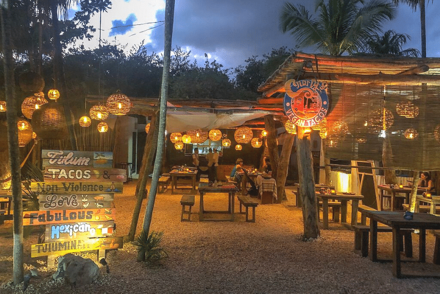 Charly's Vegan Tacos. One of the best restaurants in Tulum