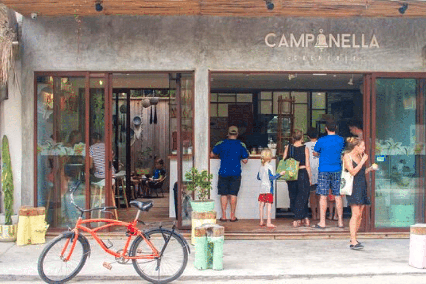 Campanella Cremerie. One of the best restaurants in Tulum