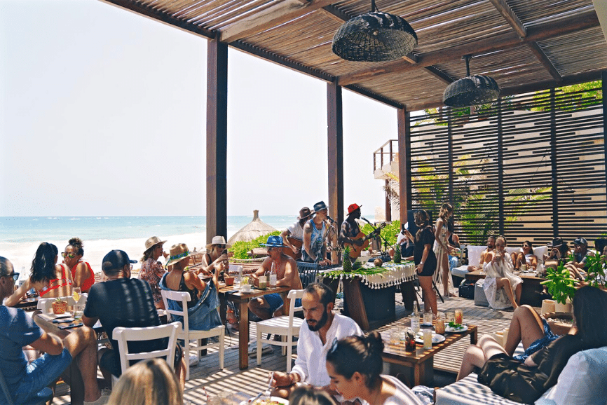 The Real Coconut at Sanará. Best Beach Restaurant in Tulum.