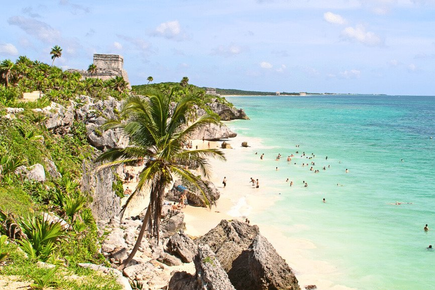 Swimming At Tulum Ruins, One Of The Best Things To Do In Tulum