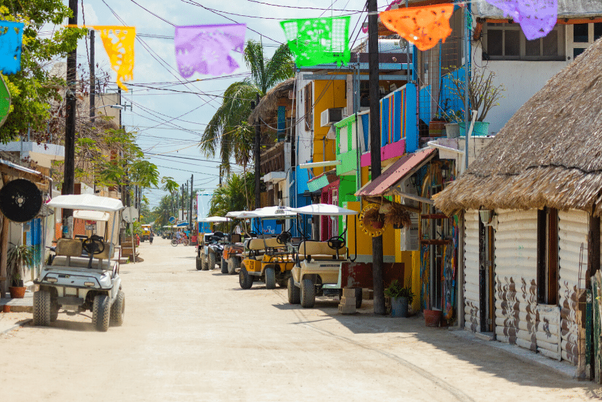 Golf Carts on Holbox Mexico. One of the best things to do in holbox mexico