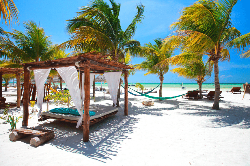 Beautiful Beach in Holbox. One of the best things to do in holbox mexico