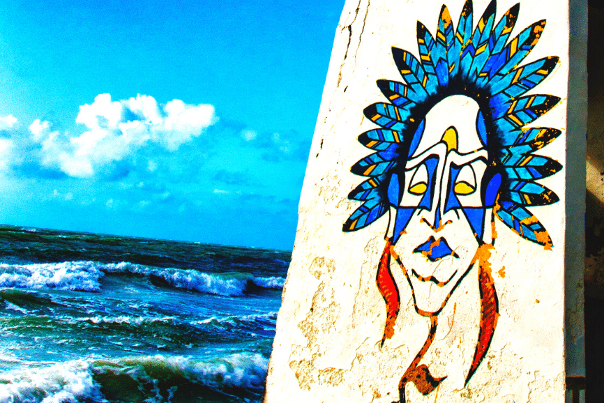 Street Art in Holbox. One of the best things to do in holbox mexico