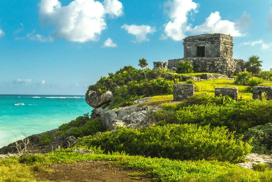Ruins At Tulum, The Tulum Mayan Ruins