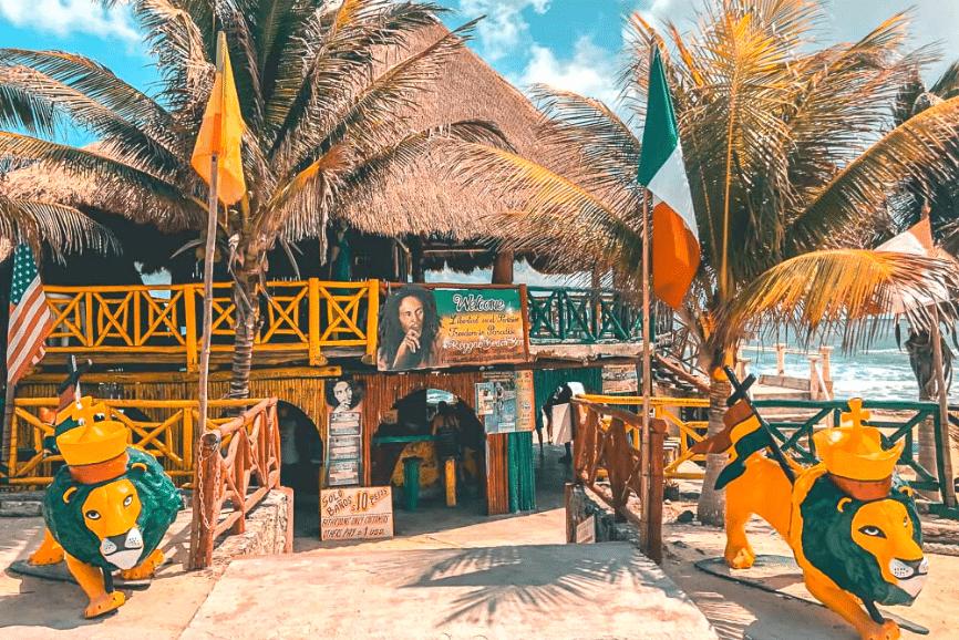 Freedom In Paradise Bar, Cozumel. One of the best cozumel beach bars