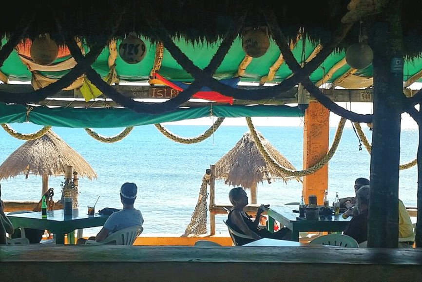 Mezcalito's Last Frontier. One Of The Best Cozumel Beach Bars
