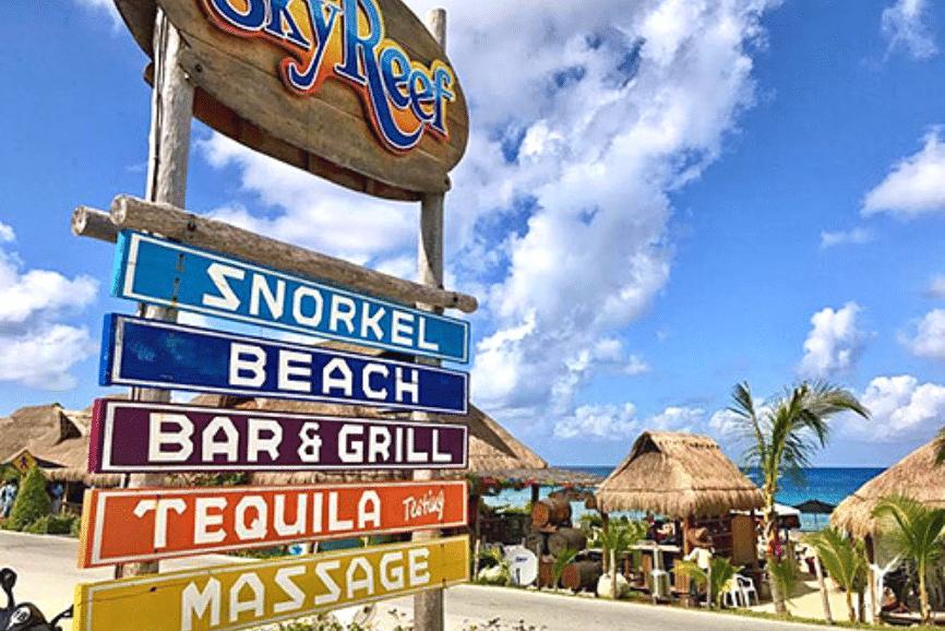 Sky Reef Bar Cozumel. One of the best cozumel beach bars