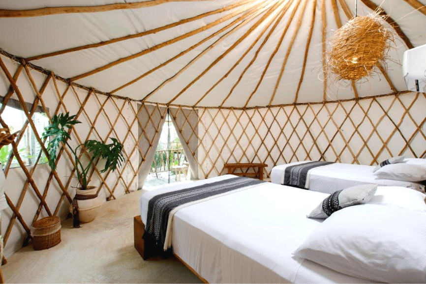 Huaya Camp Luxury Glamping, one of the best hotels in tulum mexico