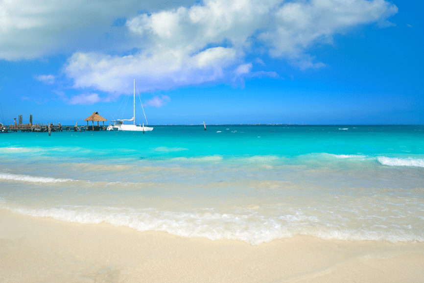 Playa Tortugas, one of the top things to do in cancun