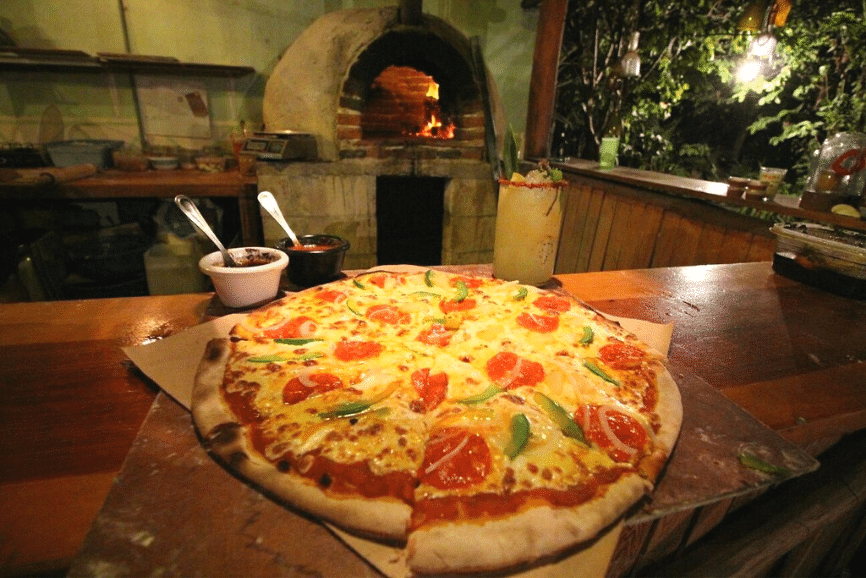 Roots Pizza a Leña, one of the best restaurants in Holbox mexico