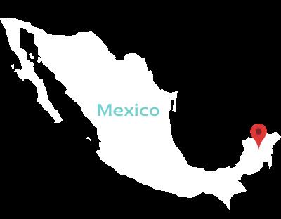 Mexico Map. Island Life Mexico