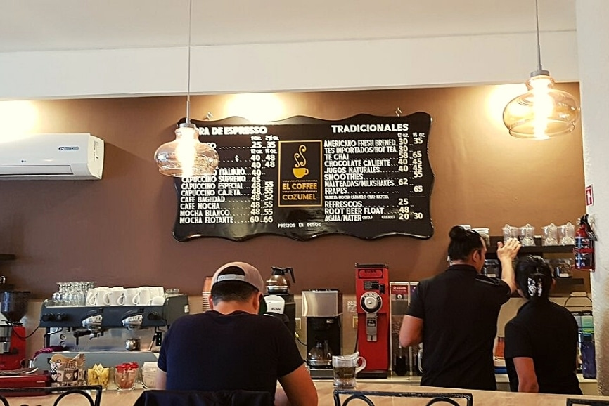 El Coffee Cozumel. One of the best restaurants in cozumel
